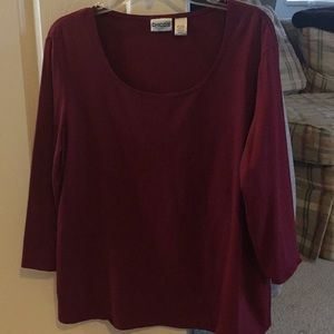 Chico's burgundy shirt
